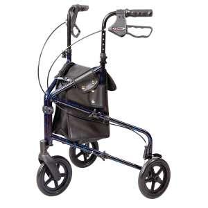 Carex Health Brands 3 Wheel Walker for seniors with Height Adjustable Handles