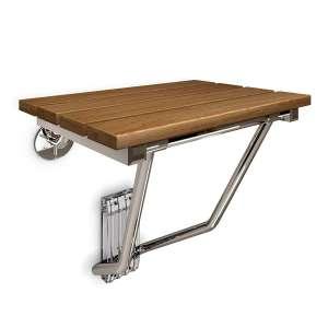 3. Dreamline Natural Teak Wood Foldable Shower Seat
