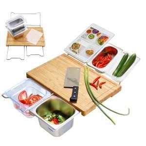 FISHSUNDAY Durable Bamboo Cutting Board Set