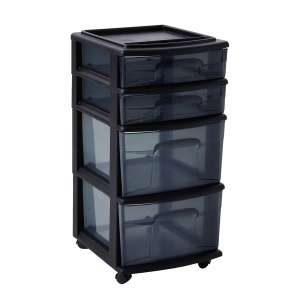 3. HOMZ Plastic Storage Cart
