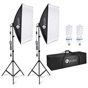 3. HPUSN 85W Softbox Lighting Kit