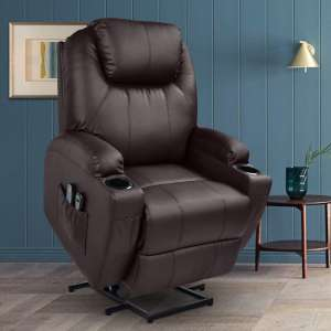 3. MAGIC UNION Lift Massage Recliner with Remote Controls for the Elderly - Brown