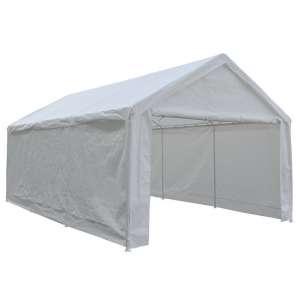 4. Abba Patio Heavy-Duty Carport Canopy Shelter, White