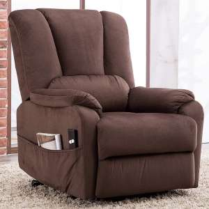 4. CANMOV Power Lift Recliner Chair with Overstuffed Design, Chocolate