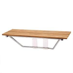 "5. Giantex 36"" Folding Shower Seat (Wooden)"