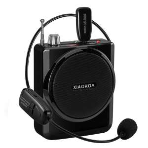 5. XIAOKOA Wireless Voice Amplifier w/ Headset
