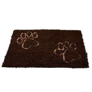 6. EXPAWLORER Microfiber Absorbent Dog Doormat for Dirty Pet, Brown
