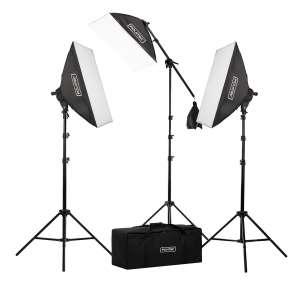 6. Fovitec 2500W Fluorescent Softbox Lighting Kit