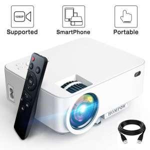 HOMPOW 3600 Lux Smartphone Portable Mini Projector