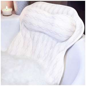 KANDOONA Luxury Bath Pillow - Non Slip and Machine Washable Design