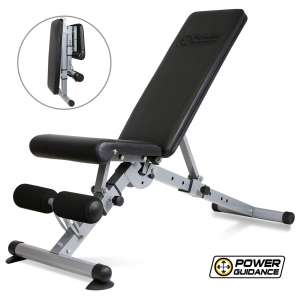 POWER GUIDANCE Adjustable Foldable Weight Bench for Home Gym