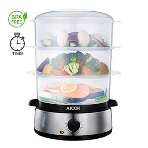7. Aicok Food Steamer including Egg Holder and Rice Tray