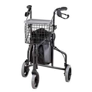 EasyComforts Foldable Lightweight Aluminum 3 Wheel Rollator Walker