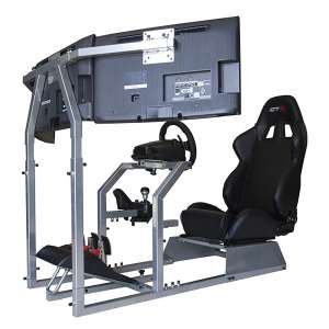 7. GTR Simulator Model Racing Simulator with an Adjustable Leatherette Seat
