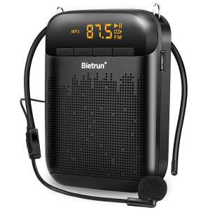 8. Bietrun Voice Amplifier w/Microphone Headset