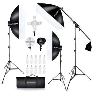 8. FOSITAN 2500W Softbox Lighting Kit