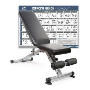 8. RitFit Foldable/Adjustable Utility Bench for Strength Training and Weightlifting