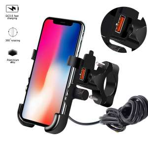 8. TURN RAISE 2 in 1 Motorcycle Phone Holder