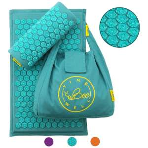 8. TimeBeeWell Eco-Friendly Acupressure Pillow Mat Set for Back, Neck- Comes in a Carry Bag