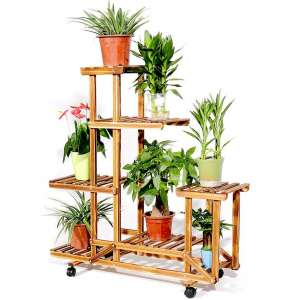 Unho Rolling Plant Stand with Wheels