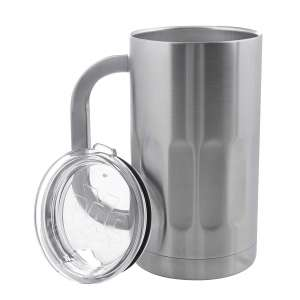 8. X-PAC Stainless Steel Beer Glass with Lid - Shatterproof & Spill-Resistant
