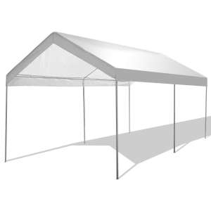 9. GYMAX Portable Carport Tent with Waterproof Functionality, 61 lbs.