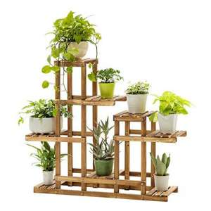 HAWC-US Direct Multi-Tier Bamboo Plant Flower Stand