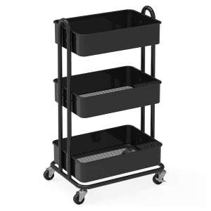 9. Simple Houseware Heavy Duty Rolling Cart