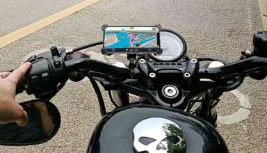 Motorcycle Phone Mount with charger