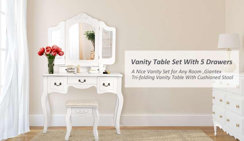 Wooden Vanity Set