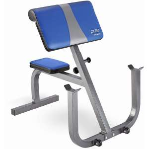 Pure Fitness Portable and Adjustable Preacher Curl Bench