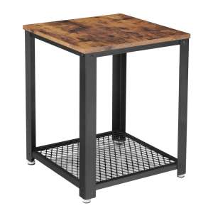 VASAGLE Industrial End Table with Storage