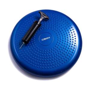 bintiva Inflated Exercise Fitness Stability Balance Disc Wobble Cushion with Free Pump