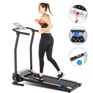 10. ANCHEER Treadmill for Home w/ LCD & Pulse Rate Grips