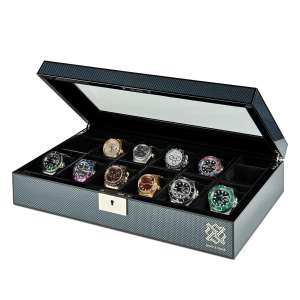 HAWK & GABLE Watch Box Organizer w/Lock