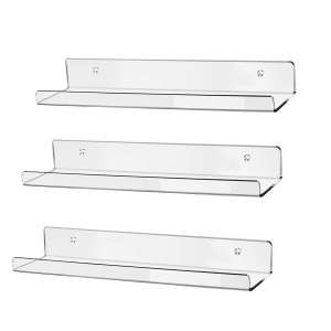 HBlife Clear Acrylic Floating Wall Shelf