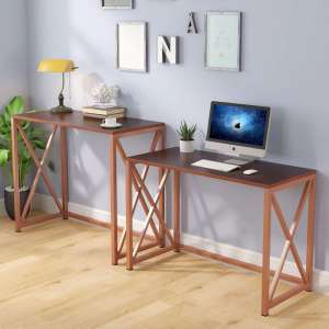 10. Tribesigns Two-Piece Long Desk