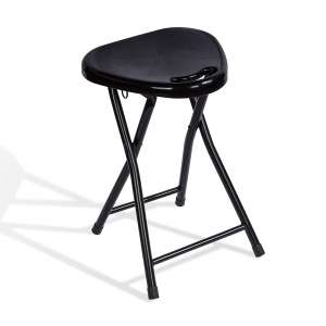 Atlantic Folding Stool with Handle 4-Pack, Black