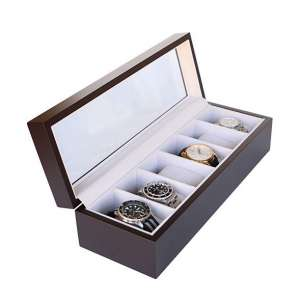 CASE ELEGANCE Watch Organizer w/Glass Display
