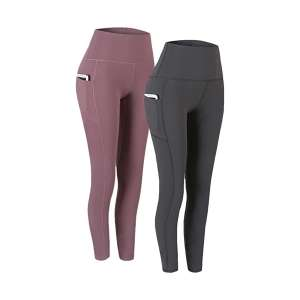 Fengbay 2 Pack High-Waist Yoga Workout Pants for Women