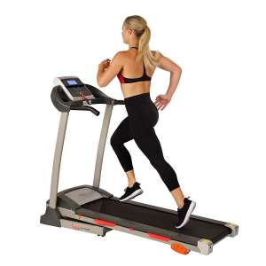 3. Sunny Health & Fitness Treadmill with Device Holder