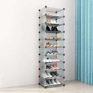 SIMPDIY Portable Shoe Rack Storage Box