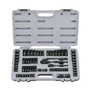Stanley Black Chrome 69-Pieces Socket Set