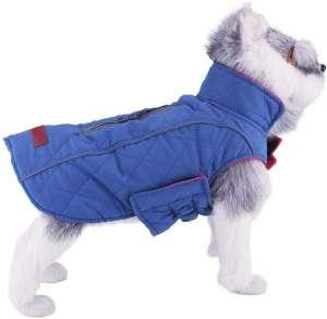 ThinkPet Warm and Reversible Dog Coat, Reflective