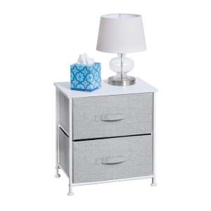 mDesign Night Stand End Table
