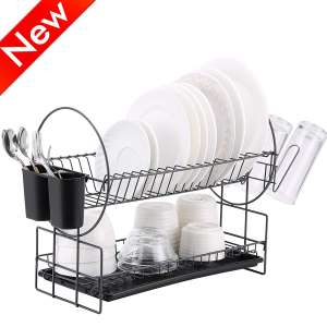2 Tier Dish Drying Rack by Housen Solutions