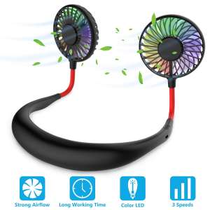 GULAKI Portable 7 LED Neck Fan