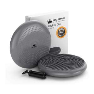 King Athletic Stability Wobble Cushion Balance Disc for Office or Home