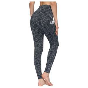 PHISOCKAT 2 Pack High Waist 4-Way Stretch Workout Pant