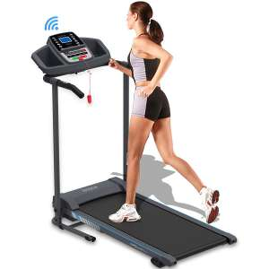 5. SereneLife Smart Folding Treadmill w/ Manual Incline Adjustment
